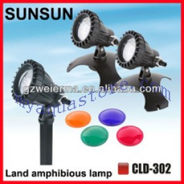 Spot Led Submersible underwater led submersible spot light for water aquarium 3*1.2w cld-302