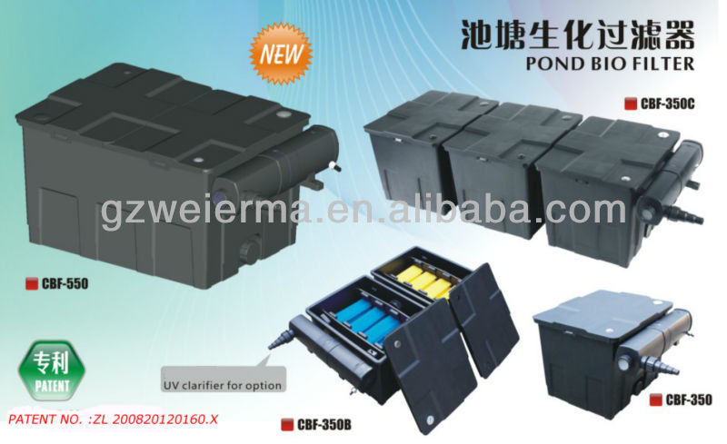 Sunsun gs ce 8000l h garden pond bio water filter system for Outdoor fountain filter systems
