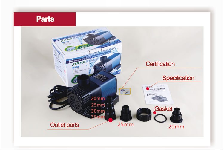 6000L/h Garden Pond Water Pump JTP-6000