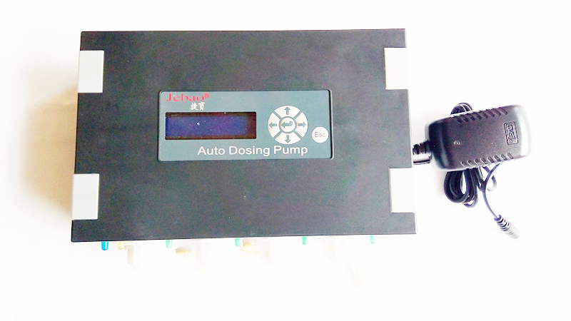 Jebao AUTO dosing pump DP-4 4 pumpheads CHANNEL for SALTWATER AQUARIUM REEF NIB