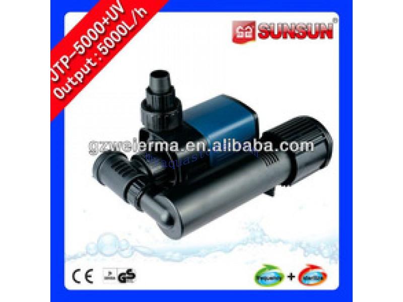 New Flow Adjustable Aquarium UV Clarifier Filter Pump JTP-5000+UV