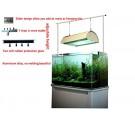 "Aquarium Light Suspension System 24"" 36"" 40"" 48"" 60""  Tank Bracket Hanging Kit"