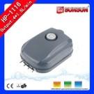 Aquarium Adjustable Air-flow Quiet Air Pump 4-outlet 13W HP-1116