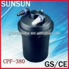 SUNSUN pressure pond filter with built-in 11w UV Clarifier (CE,GS) CPF380